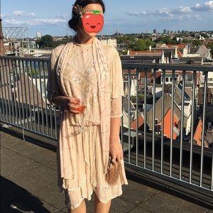 Dresses & Skirts - Gatsby flapper 1920 vintage dress & head piece